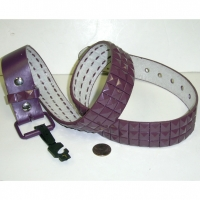MAUVE COLOR STUDS ON A MAUVE COLOR BELT