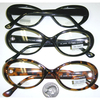 CLEAR LENS OVAL SHAPE GLASSES, BLACK & TORTOISE FRAMES