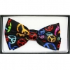 PEACE SIGN BOW TIE, MULTI COLOR PEACE SIGNS