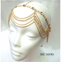 4 LINES OF CHAINS HEAD CHAIN IN GOLD & SILVER