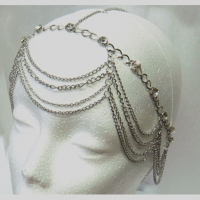 SILVER 4 LINES OF CHAINS HEAD CHAIN
