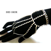 HAND JEWELRY RHINESTONE  6 piece silver only left in stock