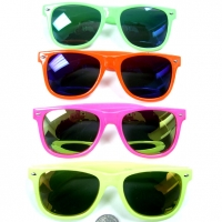 BLUE BROTHERS HOT NEON COLOR FRAMES, REVO LENS
