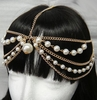 PEARLS AND CHAIN HEAD JEWELRY IN GOLD COLOR