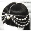CHAIN AND PEARLS  HEAD JEWELRY IN SILVER COLOR