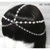 RHINESTONE LINE AND PEARL LINES HEAD JEWELRY IN SILVER