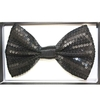 SEQUIN BLACK BOW TIE