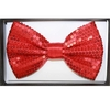 SEQUIN RED BOW TIE