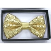 SEQUIN GOLD COLOR BOW TIE