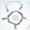 SKULL & CROSSBONES CHAIN BRACELET WITH EARRINGS