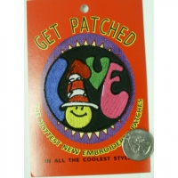 "LOVE PATCH WITH SMILE FACE AND HAT AS""O"" PATCH"