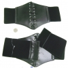 BLACK & DK BROWN  CORSET STYLE BELT, WITH LACES IN MIDDLE