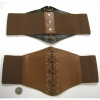 BROWN CORSET STYLE BELT, WITH LACES IN MIDDLE