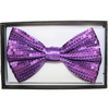 SEQUIN PURPLE BOW TIE