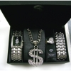 DOLLAR SIGN  PIMP SET only silver