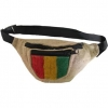 FANNY PACK SOLID COLOR WITH RASTA COLORS PANEL FRONT