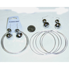 DISCO BALL EARRINGS &  6 PIECE METAL BANGLES SET