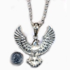 EAGLE (ELVIS TYPE) NECKLACE silver only in stock