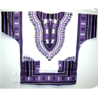 DASHIKI SHIRTS BRIGHT COLORS  SHORT SLEEV, 1 SIZE FITS MOST