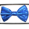 SEQUIN BLUE BOW TIE