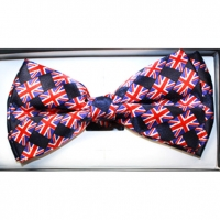BRITISH FLAG  BOW TIES