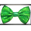 SEQUIN GREEN BOW TIE