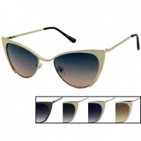 CAT STYLE METAL FRAME SUNGLASSES