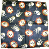 SKULL WITH CROSSBONES & SKULL IN FLAMES BANDANAS