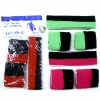 SWEATBAND SETS WITH BLACK & A COLOR STRIPE