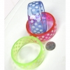 BRIGHT COLOR BANGLE WITH WHITE DOTS