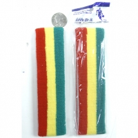 SWEATBAND IN RED, YELLOW & RED STRIPE HEADBAND