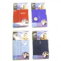 SWEATBAND SET, 3 SHADES OF BLUES only, no red