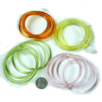 5 PIECEPLASTIC BANGLE SET  3 COLORS ONLY LEFT