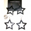 STAR SHAPE BLACK EARRINGS