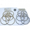 3 PAIRS OF THICK HOOP EARRINGS, GOLD AND SILVER
