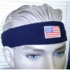 USA FLAG LOGO ON A HEADBAND SWEATBAND