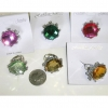 ROUND COLOR GEM CUT RING IN 5 COLORS