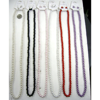 32 INCH GLASS PEARL NECKLACE IN 6 COLORS