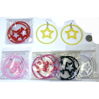 HOOP W/ STAR EARRING 6 COLORS