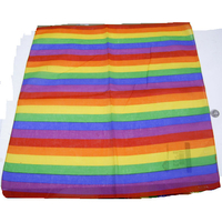 RAINBOW BANDANA THINNER STRIPES