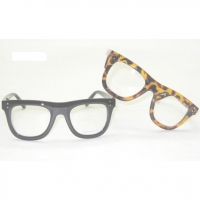 TORTOISE ONLY IN STOCK CLEAR LENS THICKER NERD GLASSES,