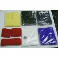 6 COLOR HEAD AND 2 WRISTBANDS SWEAT BAND SET