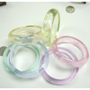 PASTEL COLORS 3/4 INCH WIDE BANGLE BRACELET