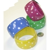 POLKADOT BRACELET  1.5 INCH WIDE, ASSORTED COLORS, NICE QUALITY