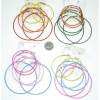3 EARRING PAIRS OF DIFFERENT COLOR AND SIZE HOOPS