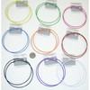 4 INCH COLOR HOOP EARRINGS IN MANY COLORS