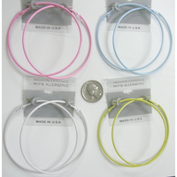 3 INCH HOOP EARRINGS IN 4 SOFT COLORS