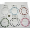 3.25 INCH DIAMETER HOOP EARRINGS IN 6 COLORS