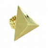 PYRAMID HUGE GOLD METAL RING
