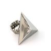 PYRAMID SILVER HUGE METAL RING